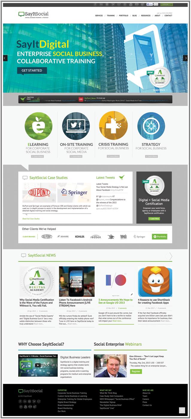 SayItSocial Homepage