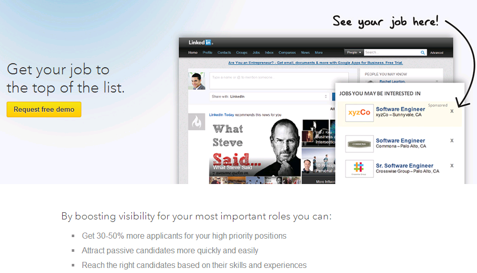 LinkedIn Sponsored Jobs