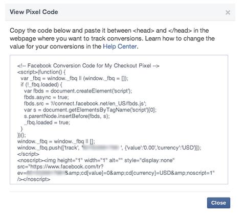 Facebook Conversion Pixels