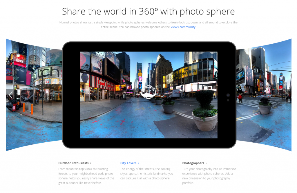 Google Photsphere