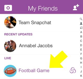 snapchat live
