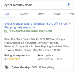How To Create Limited Time Black Friday And Cyber Monday Google Ad Extensions