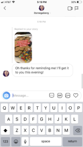 Instagram Stories reply